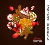 christmas background. vector... | Shutterstock .eps vector #530621521