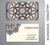 business card. vintage... | Shutterstock .eps vector #530625799