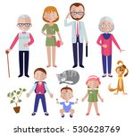 family flat style concept with... | Shutterstock .eps vector #530628769