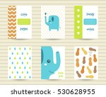 cute note pages  flashcards ... | Shutterstock .eps vector #530628955