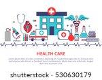 flat line design website banner ... | Shutterstock .eps vector #530630179