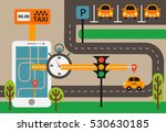 public taxi on line service ... | Shutterstock .eps vector #530630185