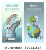 two vertical ecology banners... | Shutterstock .eps vector #530631697