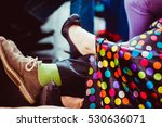 Woman In Spotted Dress Lies He...