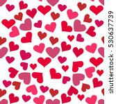 seamless pattern with hearts.... | Shutterstock .eps vector #530637739