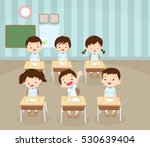 children boy sitting at school... | Shutterstock .eps vector #530639404