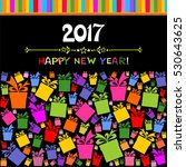 happy new year 2017  vector... | Shutterstock .eps vector #530643625