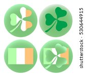 saint patricks day set of four... | Shutterstock . vector #530644915
