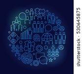 team circular blue line... | Shutterstock .eps vector #530645875