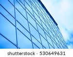 glass office building on a... | Shutterstock . vector #530649631