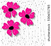 Stock vector vector background with pink fuchsia flowers 530651785