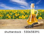 Sunflower Oil In Glass Bottle...