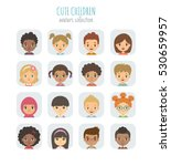 avatars collection of cute... | Shutterstock .eps vector #530659957