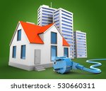 3d illustration of house over... | Shutterstock . vector #530660311