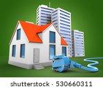 3d illustration of house over... | Shutterstock . vector #530660311