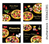 pizza design template. square... | Shutterstock .eps vector #530662381