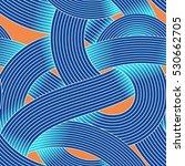 seamless op art vector pattern. ... | Shutterstock .eps vector #530662705