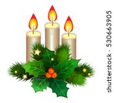 Christmas Candles With Fir...