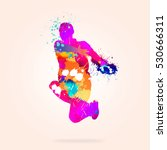 image with color silhouette of... | Shutterstock . vector #530666311