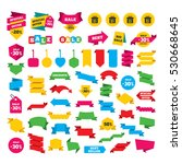 web stickers  banners and... | Shutterstock .eps vector #530668645