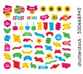 web stickers  banners and... | Shutterstock .eps vector #530668945