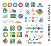 business charts. growth graph.... | Shutterstock .eps vector #530669071