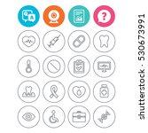 medicine icons. syringe ... | Shutterstock .eps vector #530673991