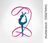 rhythmic gymnastics.... | Shutterstock .eps vector #530674441