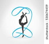 rhythmic gymnastics.... | Shutterstock .eps vector #530674459