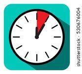 clock icon. vector retro flat... | Shutterstock .eps vector #530676004