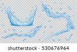 set of translucent water... | Shutterstock .eps vector #530676964