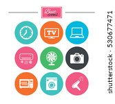 home appliances  device icons.... | Shutterstock .eps vector #530677471