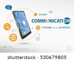 communication concept and... | Shutterstock .eps vector #530679805
