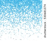 fading pixel pattern. blue and... | Shutterstock .eps vector #530681374
