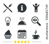 food and drink icons. muffin... | Shutterstock .eps vector #530681749