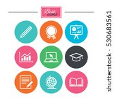 education and study icon.... | Shutterstock .eps vector #530683561