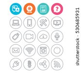 devices and technologies icons. ... | Shutterstock .eps vector #530685931