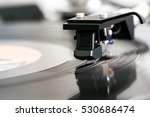 closeup of vinyl turntable ... | Shutterstock . vector #530686474
