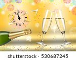 new year toast champagne ... | Shutterstock . vector #530687245