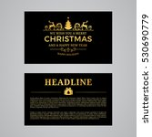 christmas greeting card design. ... | Shutterstock .eps vector #530690779