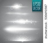 set of glow light effect stars... | Shutterstock .eps vector #530693587