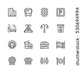 city elements icon set in thin... | Shutterstock .eps vector #530694994