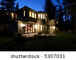 new house at night   Shutterstock . vector #5307031