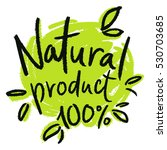 marking for natural products ... | Shutterstock .eps vector #530703685