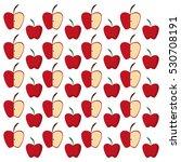 apples half fruit tasty... | Shutterstock .eps vector #530708191