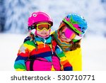 family ski vacation. group of... | Shutterstock . vector #530710771