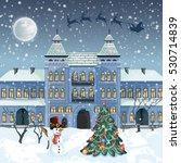 merry christmas card . santa... | Shutterstock . vector #530714839