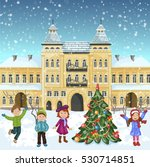 christmas illustration with... | Shutterstock . vector #530714851