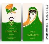 indian invitation card  pattern ... | Shutterstock .eps vector #530717119