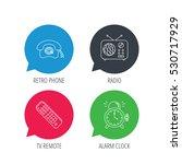 colored speech bubbles. retro... | Shutterstock .eps vector #530717929